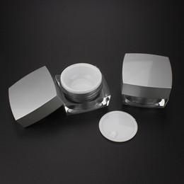 Контейнеры для пластмассовых изделий онлайн-24pcs JA50-15g square custom product packaging , косметический пластиковый контейнер пустой ,20g косметические пластиковые контейнеры онлайн