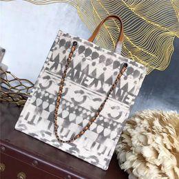 Peinture personnalisée en Ligne-Eco Friendly Shopping Bags Voyage Sac À Main Réutilisable Personnalisé Peinture Célèbre Marque Femmes Épaule Pochette En Lin