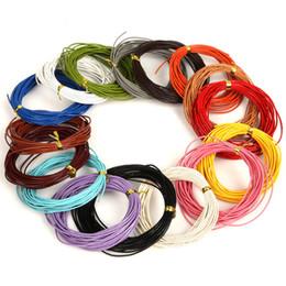 2019 bolsas de regalo de tela de encaje Cuerda de cuero genuino de 1 mm 16 colores 5 metros cuerda de cuerda de cuero real para ropa y zapatos Fabricación de joyas Materiales