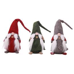 Enfeites de duende on-line-Merry Christmas Elf Boneca De Pelúcia Recheado Bigode Modelo Bonecas Brinquedos Crianças Presente de Natal Xmas Ornamento Novidade Decoração de Casa