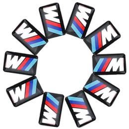 Wholesale X3 Carbon - Tec Sport Wheel Badge 3D Emblem Sticker Decals Logo For b-mw M Series M1 M3 M5 M6 X1 X3 X5 X6 E34 E36 E6 car styling stickers