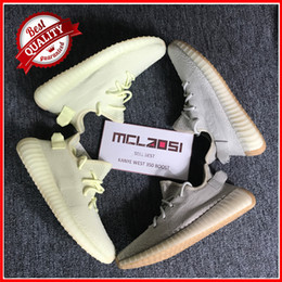 Wholesale shoes color red - MCLAOSI SELL BEST sply 350 V2, New Color butter and sesame running shoes with sply 350 v2 sports shoes best quality