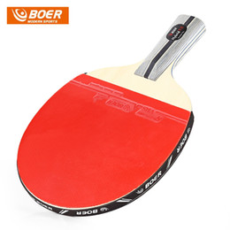 Wholesale paddle tennis rackets - BOER Table Tennis 1 Star Ping Pong Racket Paddle Long handle short handle Table Tennis Rackets Ping Pong Paddle Table Tennis Racket Set