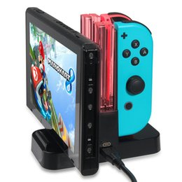 3ds ac aufladeeinheit Rabatt Gamepad 4 In 1 Ladestation Station LED Ladegerät Cradle Für Nintend Schalter joy-Con Pro Controller NS Lade Stehen