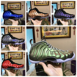 Nouveau 2018 Légion Vert Aubergine Hommes Zapatos de Penny Hardaway Chaussures De Basketball Île Métallique Mousses Dorées Hommes Baskets Sport Baskets ? partir de fabricateur