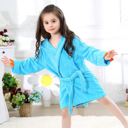 Wholesale hooded baby towels - Baby Bathrobes Cartoon Hooded Towel 5 Color 50-60cm Spring Dinosaur Swimwear Soft Pajamas 2-5T EEA182 50pcs