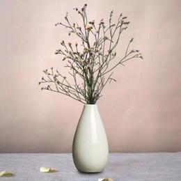 Wholesale Flower Pottery - Wedding Decoration Mini Vase Pottery Flower Pot Smooth Ceramic Plant Office Wedding Decoration Fleur Artificielle