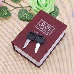 Wholesale Security Cash - Mini Storage Box Cash Jewelry Secret Security Case Dictionary Book With Key Lock Jewelry Locker Box Cash Secure Boxes JUN13-1