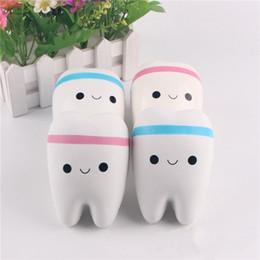 célula para crianças Desconto Novidade Squishy dente Lento Rising Kawaii 11 cm Squeeze Suave Bonito Strap Telefone Celular Stress Toy Presente para as crianças