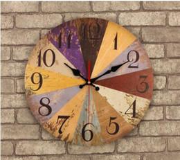 relógio borboleta preto Desconto 021385 14 Polegada Relógio De Parede De Madeira Do Vintage Grande Chique Gasto Cozinha Rústica Tempos Quatz Casa Estilo Antigo