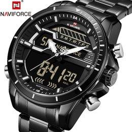 2019 аналоговые цифровые роскошные часы NAVIFORCE мужские часы цифровой Спорт мужские часы топ бренд класса люкс из нержавеющей стали аналоговые светодиодные кварцевые мужские часы новый 9133