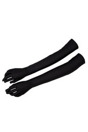 Wholesale party gloves ladies - EAS-Lady Satin Gloves Formal Party Festival Long Black