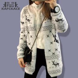00e7ede641 Wholesale-Women Sweater Cardigan Winter Female Coat Knitted Jacket Warm  Korean Christmas Plus Size Blouse Long Sleeve Wool Ladies Wildfox