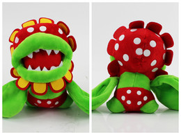 Wholesale 18cm plush - Super Mario plush toys 18cm Piranha Plant Flower Plush Doll Stuffed Animal Figure Toy EEA380 30PCS