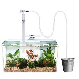 control de escala Rebajas Tanque de peces de acuario Limpiador de arena de grava con control de flujo Cambiador de agua sifón de vacío Perfecto para limpieza Tanque de peces de escala media y grande