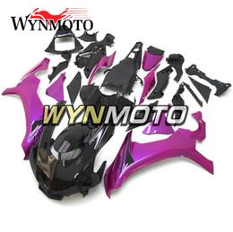 kit carenado yamaha r1 morado Rebajas Carenados de color morado negro 2015-2016 R1 kit de Carenado completo ABS de la motocicleta para Yamaha YZF1000 R1 YZF 1000 2015 2016 kits de cuerpo de la carrocería regalos gratis