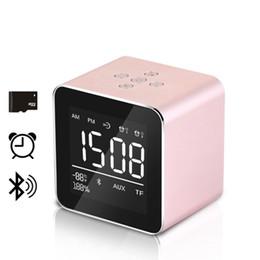 Wholesale Computers Displays - V9 Portable Bluetooth Speaker 1800mah Speaker Plug in Memory Cassette Display Alarm Clock Speaker Compatible Smartphone Computer