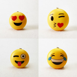 Wholesale Cartoon Flashlight - Luminous Voice Flashlight Keys Chain Cartoon Cute Yellow Smiling Face Key Buckle Many Styles 2 29bs C