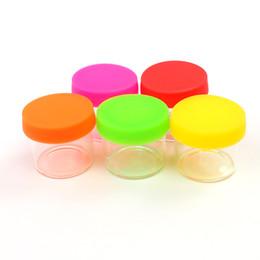 2019 al por mayor botellas de suero gotero de vidrio 500X Antiadherente 6ML Dab Glass Jars Contenedores de cera Dab Dry Herb Concentrate Container fue dab jar glass Botella con tapa de silicona