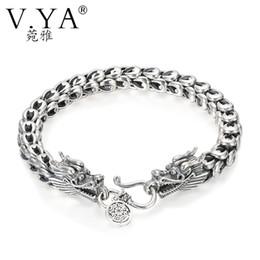 V. YA Punk Männer Schmuck Drachen Armbänder 100% Thai Silber Armbänder für  Männer Schwere Dicke Punk Armband Retro Silber Armband drachen silber  armband ... b28f2e0e99