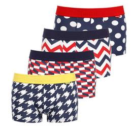 Wholesale cartoon boxers - 4pcs  Lot Men Underwear Boxers Cartoon Printed Cotton Boxer Mens Underwear Sexy Brand Comfort Underpants Boxer Shorts
