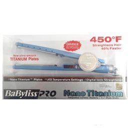 Wholesale Dhl Hair Straightener - PRO 450F 1 4 plates babiliss plate Hair Straightener Straightening Irons Flat Iron Blue US Plug DHL