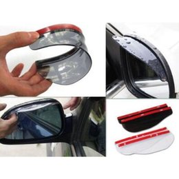 Wholesale Rain Mirror - Rear View Side Mirror Flexible Sun Visor Shade Rain Shield Water Guard Universal Eyebrow Shield CCA9427 100pcs