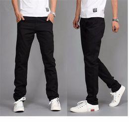 e9933edf7a pantalones de color caqui de moda para hombres Rebajas Nuevo diseño de  algodón pantalones de los