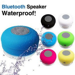 Wholesale portable car audio - Wireless Bluetooth Speaker Portable Waterproof Shower Car Handsfree Receive Call mini Suction Phone IPX4 speakers box player