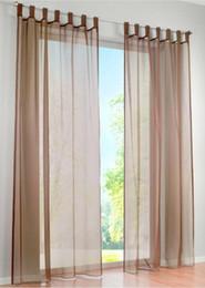 estores estilo casa Desconto Hot Sale-Alta Qualidade ocidental simples Voile cor Sólida sheer cortinas da janela (um par)