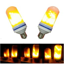 Wholesale flicker flame lamp - E27 99PCS SMD2835 5W 3 Modes LED Flame Light Flame Effect Bulb Flickering Emulation Decorative Flame Lamps For Christmas Decoration