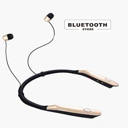 Bluetooth vibrante on-line-Fone de Ouvido Sem Fio Bluetooth Fone de Ouvido Vibrar HI-FI Stereo Earbud Único anel-necked desigh Bluetooth4.0 Cuffie Fones de ouvido Auriculares