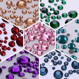 gemme posteriori piatte Sconti 1000Pcs Nail Rhinestones Decorazione unghie 3D Colorful Flat Back Mixed Size Gems Manicure Art Decorations
