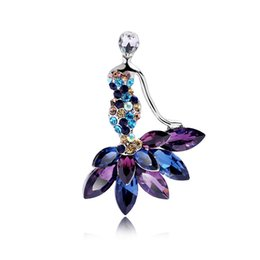 Wholesale Boutique Clothes Women - Fashion Personality Boutique Crystal Mermaid Brooch Clothing Accessories Used by Women and Men YP3378