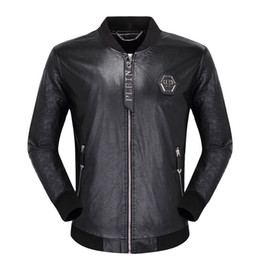 2019 bandiera scamosciata Tide Motorcycle Leather Jackets Zipper Jacket Coats da uomo Winter Man Casual Fashion manica lunga Lettera Ricamo Tiger Head Capispalla # 04