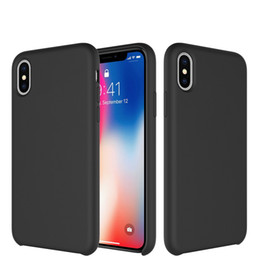 microfiber iphone Promo Codes - For Iphone 8 Case, Pretty Liquid Silicone Gel Rubber Case with Soft Microfiber Linning for Iphone X Silicone Cases