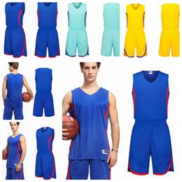Wholesale Soft Jerseys - Men' Basketball Suits adult basketball Training Jerseys male Breathable comfortable soft Basketball Running sleeveless uniforms KKA5069