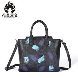 2019 saco de vagão caqui 2018 Couro Genuíno Das Mulheres Bolsa Esfoliante Couro Trapézio Sacolas Famosa Marca Feminina Bolsa de Ombro Messenger Bag