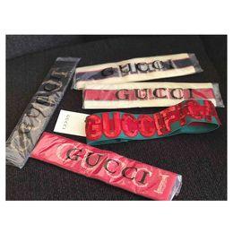 beste schal marken Rabatt Designer Elastisches Stirnband für Frauen und Männer Beste Qualität Marke Grün und Rot Gestreifte Haarbänder Kopftuch Für Kinder Headwraps Geschenke