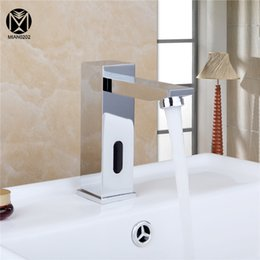 Wholesale Real Estates - Construction & Real Estate Single Cold Automatic Hands Touch Free Sensor Bathroom Basin Sink A-500 Tap Faucet
