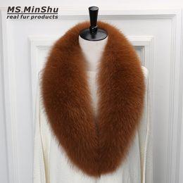 Wholesale dark blue women fur coat - Long Fox Fur Collar Scarf Detachable Genuine Fox Fur Scarf Winter Woman Fox Fur Suite Collar 100cm long for Women Coat