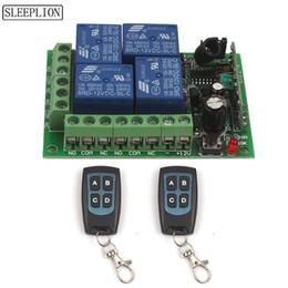 Sleeplion 12 V 4CH Kablosuz Uzaktan Anahtarı Evrensel Uzaktan Kumanda Röle Anahtarı 12 V 4 Kanal Röle Modülü Kutusu Kurulu 315/433 MHz cheap remote controlled relay channel nereden uzaktan kumandalı röle kanalı tedarikçiler