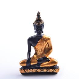 Statue del buddhismo online-Buddismo Sud-est asiatico Caratteristica regionale Statua di Buddha Statue in resina di Buddha Miniatura Decorazione del giardino Figurine di buddismo