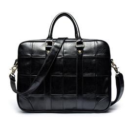 babab74b8b New Fashion Vintage Style Solid Black Business Messenger Bag PC Handge per  gli uomini Borsa a tracolla in pelle PU elegante borse stile elegante in  vendita
