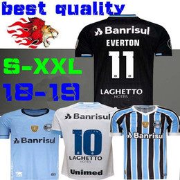 2ca2134cec4c4 2019 jersey gremio 2018 2019 Melhor Qualidade Gremio Casa Fora Terceira  Camisa de Futebol 18 19
