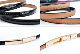 build direct Promo Codes - Female small waist belt han version 100 build leather adjustment to buckle small belt lady dress decoration waist chain manufacturer direct