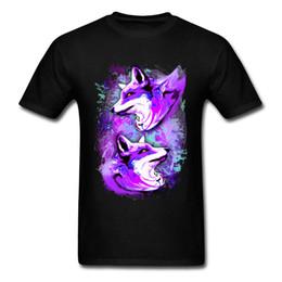 34c0d87fac386 Garçon Tops Chemises Purple Fox Spirit Marque New Custom T-shirts 100%  Coton À Manches Courtes Tee-Shirt Col Rond abordable chemise pour garçon  violette
