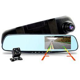Камера заднего вида 3.5 онлайн-Автомобильный видеорегистратор с двумя объективами Автомобильная камера Full HD 1080P Видеорегистратор Зеркало заднего вида с видеорегистратором видеорегистратора Видеорегистратор Авторегистратор