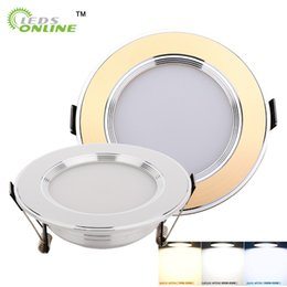 Wholesale knob cabinet gold - LED Ceiling Downlight 2.5 inch 3 inch 3W 5W 7W LED Recessed Cabinet Wall Spot light Down Lamp Gold Silver Cold White Warm White