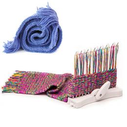 strick-sets Rabatt Schal Strickmaschine Knitting Loom stricken Hobby Tool Kits mit Wolle Garn Kind Lernspielzeug Handwerk Hand